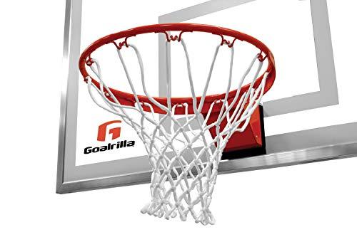 Goalrilla - Llanta Flexible para Baloncesto con Red de Nailon para Todo Tipo de Clima, Borde Recubierto de Polvo y Acero Inoxidable
