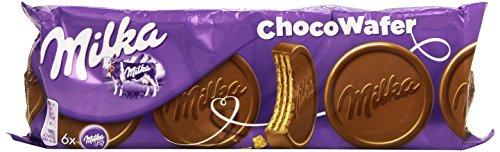 Milka - Choco Wafer - Barquillo con Relleno de Cacao - 180 g - [Pack de 3]