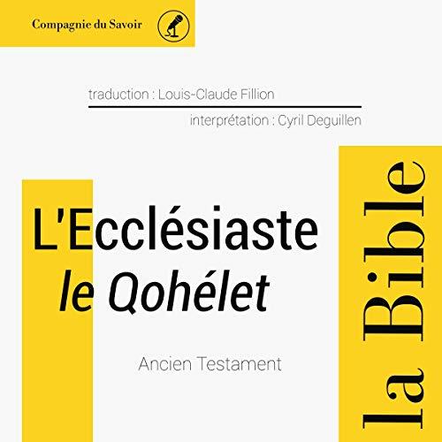 Couverture de L'Ecclésiaste (le Qohélet)