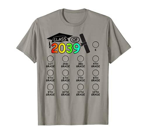 Clase De 2039 Crecer Conmigo Espacio Para Marca De Verificación K 12th Grado Camiseta