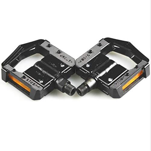 SMEI Pédales De Vélo Pliantes MTB VTT Pédaleen en Aluminium 2 du Bearing avec Réflecteur Anti-Slip Bicycle Parts