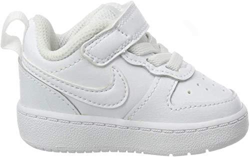 Nike Unisex Baby Court Borough Low 2 Hausschuhe, Weiß (White/White/White 100), 22 EU