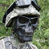 Generic Tactical Skull Skeleton Full Face Security Mask War Game Hunting Costume Party - Silverblack