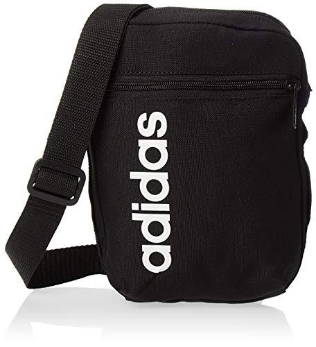adidas Lin Core Org Organizer, Unisex adulto, black/black/white, NS 🔥