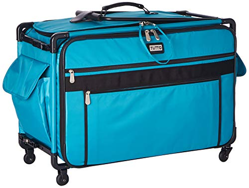 Tutto Monster Machine on Wheels Sewing Machine Case, 2XL Turquoise