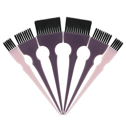 Hair Dye Brush Set, Segbeauty 6pcs Tint Brush Set Hair Coloring Brushes, Professional Hairdressing Tinting Brush Color Applicator Brush, Hair Bleach Styling Brush for Hair Dyeing Balayage