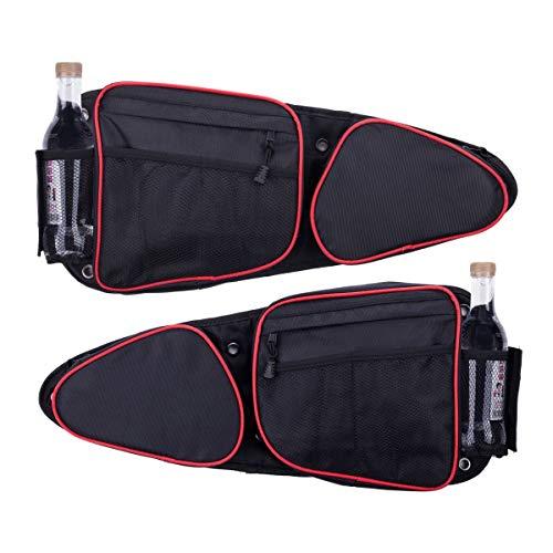 Lesiyou - Bolsas de puerta lateral para RZR con rodillera extraíble, bolsa de almacenamiento lateral para Polaris RZR XP, XP4, Turbo, Turbo S, S 900, S 1000, 2014-2020