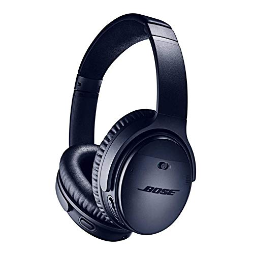 Bose Casque sans fil à réduction de bruit QuietComfort 35 II - Triple Midnight, avec Amazon Alexa Intégrée