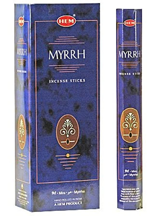 Myrrh - Box of Six 20 Gram Tubes - HEM Incense