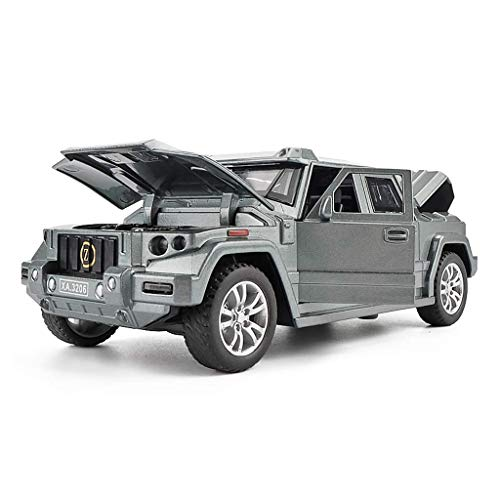 XIUYU Auto-Modell Auto 01.32 Kampfschild Off-Road-SUV Simulation Legierung Druckguss-Spielzeug Ornamente Sport Car Collection Schmuck 15.2x6.5x5CM Modell (Farbe: Gold) (Color : Gray)