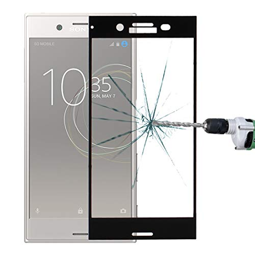 ZHAODONG Moblie For sony Xperia XZ Premium 0.33mm 9H Surface Hardness 3D Silk-screen Full Screen Tempered Glass Screen Protector(Black) (Color : Black)
