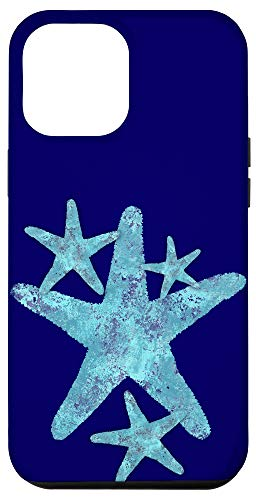 iPhone 12 Pro Max Sea Star Aqua Teal Starfish Coastal Beach Nautical art Case
