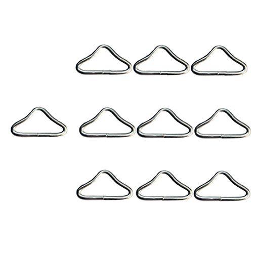 Trampolín Triángulo de los Anillos, 10pcs de la Despedida de Cama Accesorios de Acero Inoxidable V Anillos de Trampolín Correa Guardián