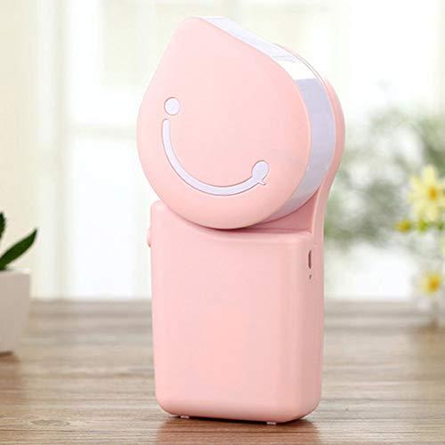 AA-small air conditioner XXKT Condizionatore d'Aria Portatile, Mini USB Aroma Diffuser Fan Piccolo Desktop Fan Bladeless Silenzioso per Ufficio, dormitorio, Comodino (Rosa)