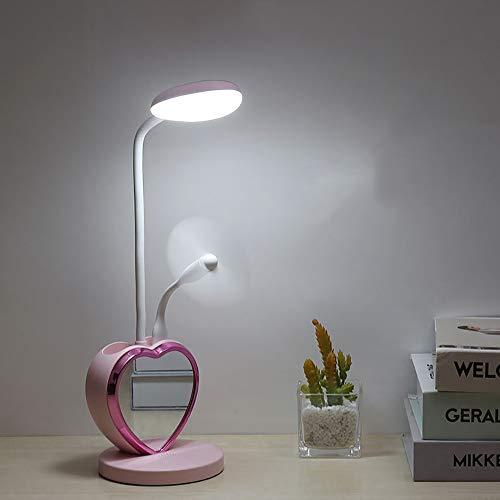 ZGNB Lámpara de Escritorio LED de Intensidad Regulable Lámpara de Mesa Control Táctil Flexo de Escritorio luz Carga USB con portalápices para Leer,Estudiar