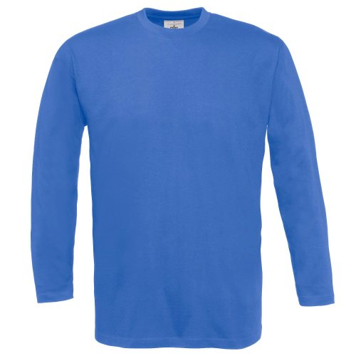 B&C Exact 150 Long Sleeve T-Shirt Manches Longues, Bleu (Royal Blue 000), XX-Large (Taille Fabricant: 2XL) Homme