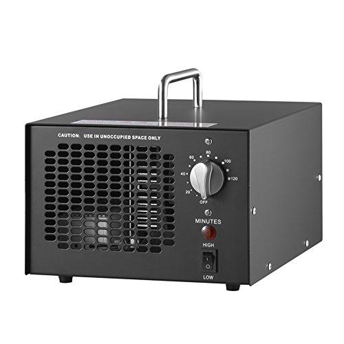 Generador de ozono profesional 3000 a 7000mg /h, 3.5 a 7g /h temporizador ajustable generador de ozono purificador de aire perfecto para su automóvil, desinfección la cocina, reducir el olor, Schwar