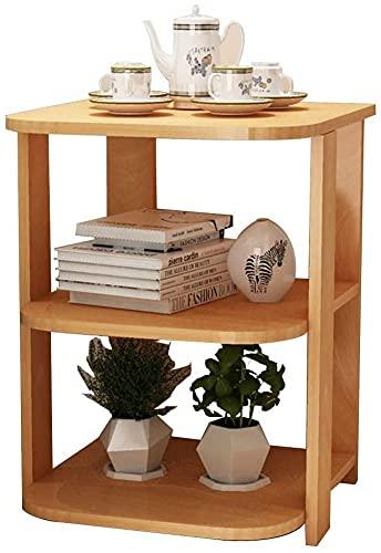 ZGYZ Modern Furniture 3-Tier Couchtisch, kleine Wohnung Wohnzimmer Sofa Beistelltisch, einfache abnehmbare Couchtisch, Schlafzimmer kreative Nachttisch, Ahorn