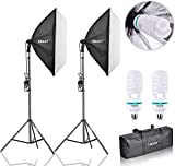 "EMART Softbox Lighting Kit 24""x24""(60cm x 60cm), Professional Photography Continuous Lighting Equipment 1000W"