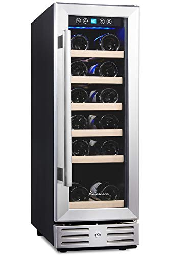 Kalamera 12'' Wine Cooler 18 Bottle Built-in or Freestanding with Stainless...