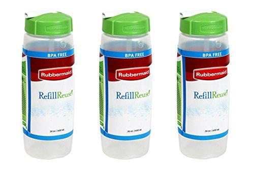 Rubbermaid Sipp'n Sort Refill-Reuse Squeezable Sport Bottle, BPA Free, 20...