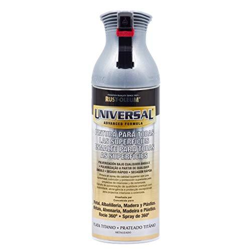 Spray Universal Metalizado Rust-Oleum 400ml - Plata Titanio