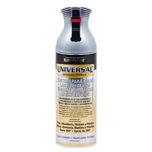 Spray Universal Metalizado Rust-Oleum 400ml - Plata Titanio