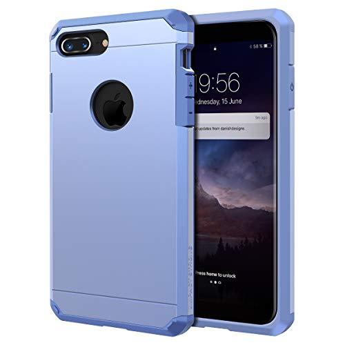 IMPACTSTRONG Schutzhülle für iPhone 7 Plus / 8 Plus (5,5 Zoll), robust, doppellagig, Hellviolett