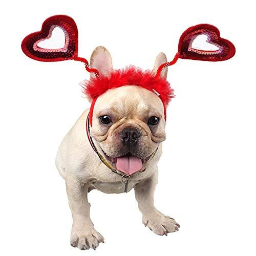 Halloweenkostuum voor kerstdieren hond hoofdband in hartvorm haarband festival en party dress Up