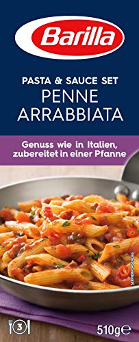 Barilla Pasta & Sauce Set Penne Arrabbiata, 12er Pack (12 x 510g)