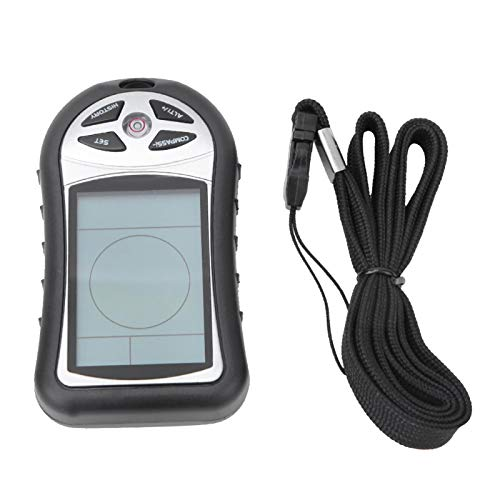 Guoshiy Anemómetro Digital Barómetro de Mano, 8 en 1, medidor de altitud de Mano, termómetro, brújula de navegación electrónica, barómetro, navegación al Aire Libre, Surf, Tiro, Pesca, Caza