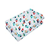 HUGVIDAS Set of 2 Waterproof Baby Diaper Changing Mat Baby Changing Mat Cover, Washable Reusable Breathable, Infant Mattress Pad Cover Extra Large (20 X 28 Inches), Carl