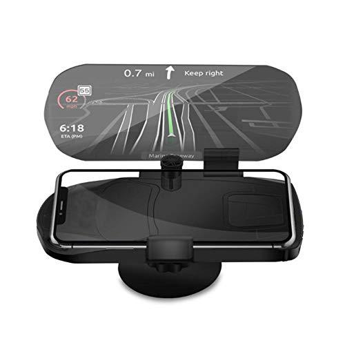 Haodene Affichage Tête Haute Voiture GPS Support De Navigation Universal HUD Support De Téléphone Portable GPS pour Grand Écran Projecteur De Réflexion HD, Réglage Rétractable De Différentes Tailles