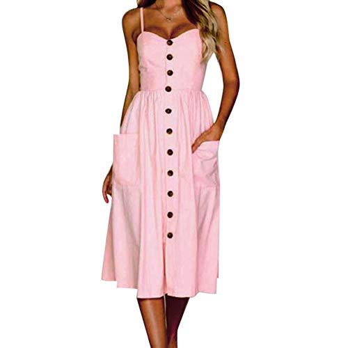 QIANDUOO Frauen Sexy Riemen Böhmischen Floral Tunika Strandkleid Sommerkleid Tasche Rot Kleider Weiblich Pink