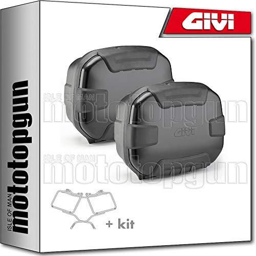 givi portamaletas lateral + maletas lateral trekker ii 35 trk35b black line compatible con suzuki gsf 1250 bandit 2008 08