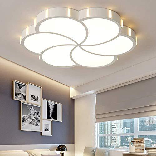 Plafón LED techo dormitorio con control remoto, lámpara para habitación infantil regulable, creativa moderno lámpara de techo blanca niños iluminación para salón comedor cuarto de bebe, Ø52cm, 36W