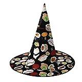 Cappello da strega per sushi, costume per Halloween Cosplay Wicked Witch, accessorio per bambini e adulti