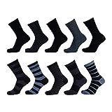 Lieblingsstrumpf24 10er Pack Kinder Socken Jungen Mädchen Baumwolle (23-26, Ringel Blau Mix)