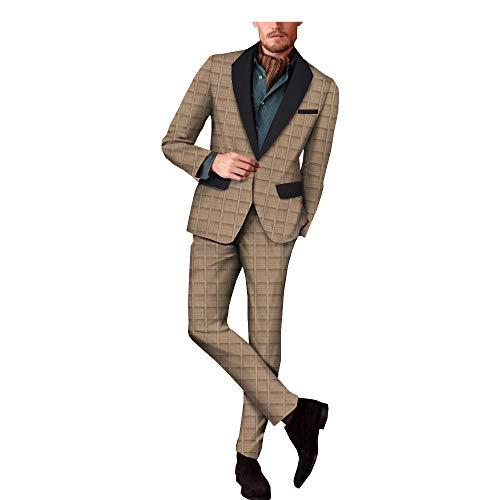 Men Suits Jacket Pants Lining Jacquard Dashiki African Tribal Tracksuit Agbada Bazin Arab Thobe Islamic 1 12 XS 1 12 S 1 12 M 1 12 L 1 12 XL 1 12 2XL