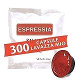 300 Capsule Cialde compatibili Lavazza a modo mio - Miscela Silver, gusto Crema - Confezione da 300 Pezzi (600), marchio Espressia