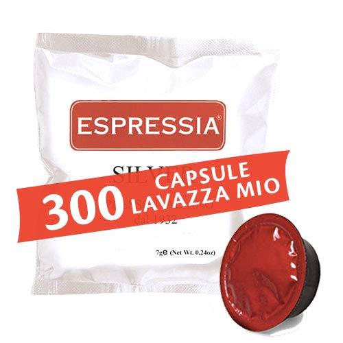 300 capsule Cialde compatibili Lavazza a modo mio - Miscela Silver, gusto Crema - marchio Espressia