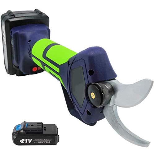 WSDSX Tijeras de podar eléctricas inalámbricas Profesionales, con 2 Tijeras de podar de Rama de árbol con batería de Litio de Respaldo 21V 2Ah, diámetro de Corte de 35 mm, 6-8 Horas de Trabajo