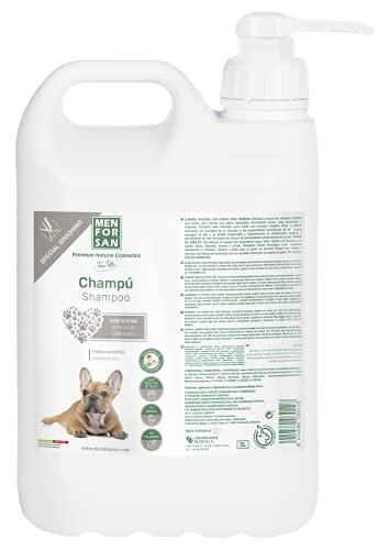 MENFORSAN Champú Perros con Avena, para Pieles sensibles, PH Neutro Adaptado a la Piel del Perro