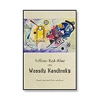 ワシリーカンディンスキークラシック抽象帆布展ポスタープリントウォールアートホームフレームレス帆布絵画A150x70cm
