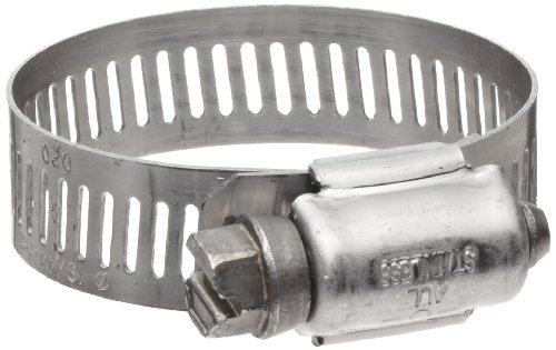 Precision Brand B20HS All Stainless Worm Gear Hose Clamp, 3/4' - 1-3/4' (Pack of 10)