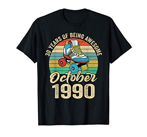 October 1990 T Shirt 30 Year Old Shirt 30 Birthday Gift T-Shirt