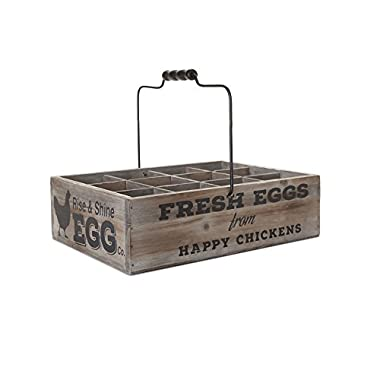 SummerHawk Ranch Vintage Style Egg Crate - Holds 12 Eggs