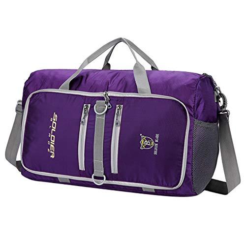 Homyl Sac de Sport en Plein Air Multi-Fonctionnel Packs Pliables de Grande Capacité - Violet, 48x21x30cm