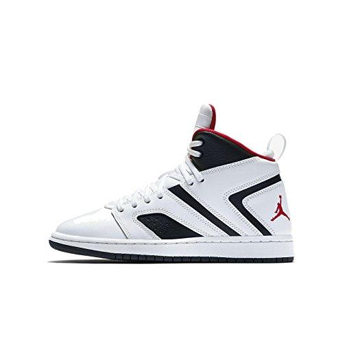 Nike Jordan Flight Legend Bg, Zapatos de Baloncesto para Niños, Blanco (Weiß/Rot 112), 35 EU