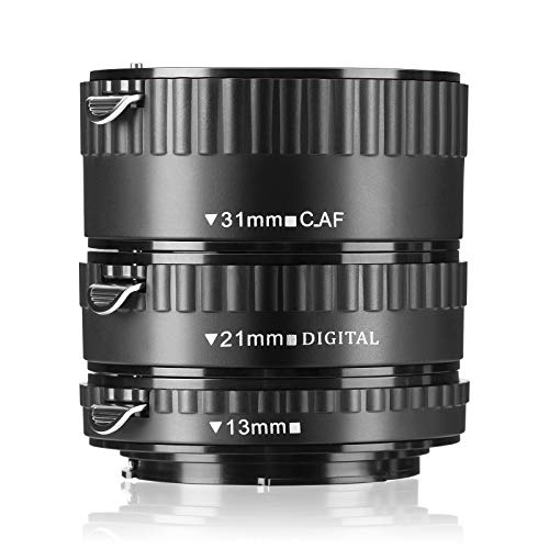 Macro Extension Tube Set JINTU AF Auto Focus ABS for Canon EOS EF EF-S SLR Cameras Such as 60D 77D 70D,80D 650D 750D 7D T7i T7s T7 T6s T6i T6 T5i T5 SL2 SL1 for Macro Photography
